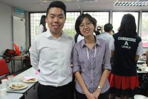 """EduSpiral gave me advise over phone, Facebook, Skype and even took me to visit the universities. He spent a lot of time to help me make my decision on what to study and at which university."" Ban Moon (Left), Scored 3As in the A-Levels at HELP Academy"