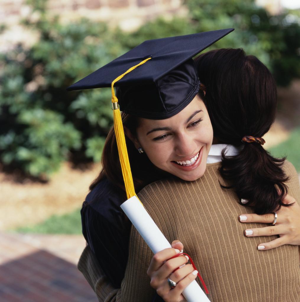 Graduate Hugging Mother