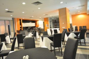 Mock restaurant at HELP College of Arts and Technology for practical training for their hotel management students