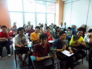 Paul with his class mates at UCSI University
