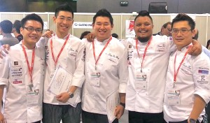 KDU's Award-Winning Chefs - From left: Levin Tung, Fong Wei Loong, Ling Kar Weng, Chef Darren Teoh and Chef Kenneth Kam (School of Hospitality, Tourism and Culinary Arts).