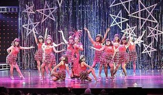Wow factor: The glitzy production that is The Secret Life Of Nora, starring Tiara Jaquelina (middle) in the titular role