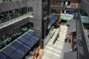 Inside the spacious and well planned campus of Asia Pacific University