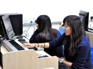 UCSI University music students practicing in the MIDI Lab
