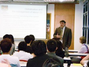 Dr. Steve French, the Acting Head of School from Keele University, UK giving a lecture to KDU business degree students