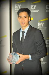 Joel Wong, winner of EY Young Tax Professional of the Year for Malaysia