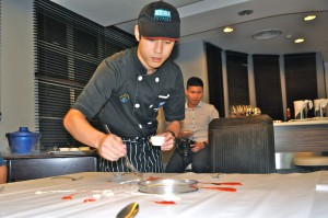 KDU Culinary Arts student preparing the Molecular Gastronomy meal