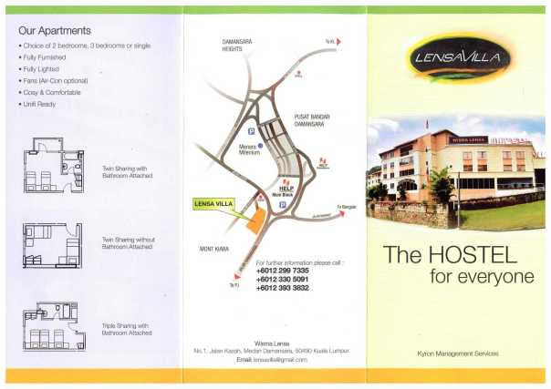HELP University Accommodation at LENSA Villa page 1