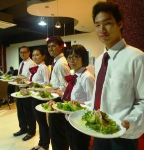 UCSI University Kuching campus culinary arts students showing off their delicious creations