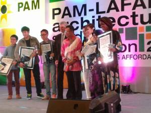UCSI University architecture students won the runner-up prize in the PAM­-Lafarge Architecture Student Competition 2013