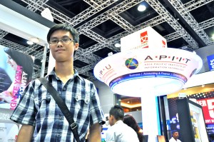 """I met EduSpiral at the Education Fair and he helped me to filter all the information from the universities and choose the best university that fit me."""" Vincent Hoy, Scholarship student at Asia Pacific University"""