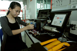 Tiffany Chung Wei Ning, BEng (Hons) Mechatronic Engineering at UCSI University, Gold Medal recipient in the 3rd Life Invention Competition for Green Growth in Korea 2011