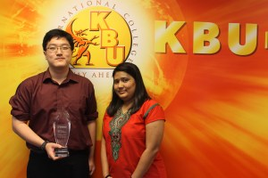 Ooi Peng Kooi, from KBU International College,  emerged as the first prize winner of the iSpeak 2014 Public Speaking Competition