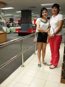 EduSpiral encourages our students to see the university before choosing to study there such as this student & mother who flew in from Sarawak to visit KDU University College