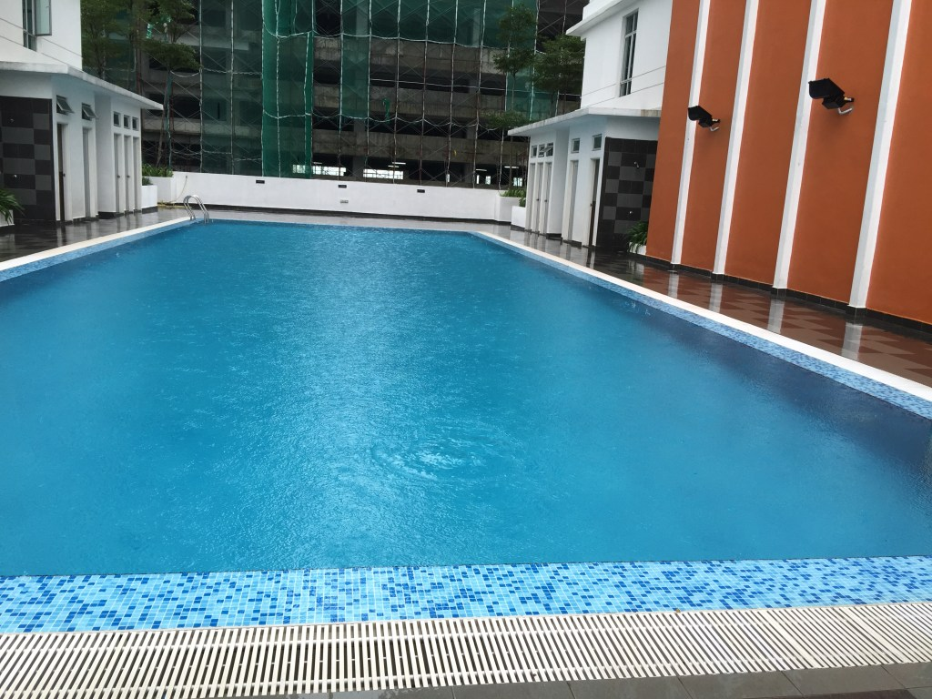 Swimming pool at the Arc Condo, student accommodation for Heriot Watt University Malaysia