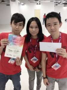 Winners of the MIID Furniture Design Competitioin, Gee Sze Yong, 19, Ting Ying San, 21 and Lim Chuun Kiat, 19 who are pursuing the Diploma in Architecture Studies and Interior Architecture at UCSI University