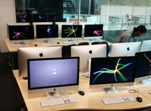 Dual-core Macs at Asia Pacific University (APU) for the animation & Visual Effects students