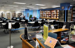 Well-equipped library at Asia Pacific University