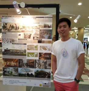 I met EduSpiral a few years ago after completing my Diploma at LKW. I wanted to continue my degree at a better university & EduSpiral showed the number of awards won by KBU for interior design which convinced me. Jun Hao at his graduation showcase, Interior Design at KBU International College