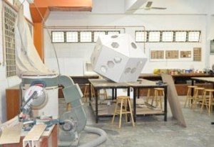 Interior Design and Furniture & Product Design Students at First City UC create masterpieces at the woodwork workshop