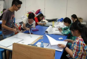 Design class at KBU International College