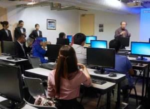 Computing class at YTL International College of Hotel Management (YTL-ICHM)