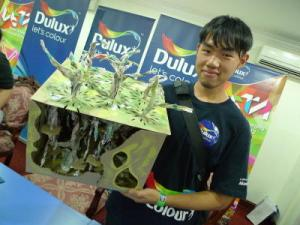 DETA 2012 saw Simon Chong Sin Man of UCSI University emerge as Champion. Simon's idea of an eco-friendly cafeteria for factory workers integrated with trees where food waste can be recycled into fertiliser.