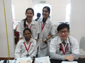 Medical students at Taylor's University