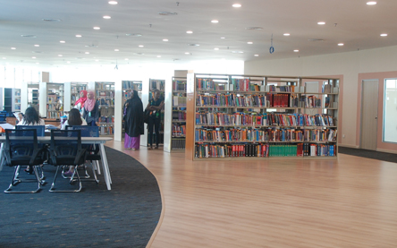Well equipped library at MAHSA University