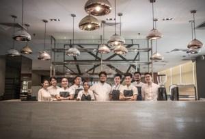 Chef Darren Teoh with his team at Dewakan, having won 46th Rank in Asia's Best 50 Restaurant List