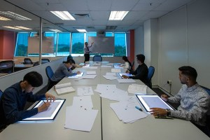 Cintiq Drawing Studio for Animation and Visual Effects Students at Asia Pacific University (APU)