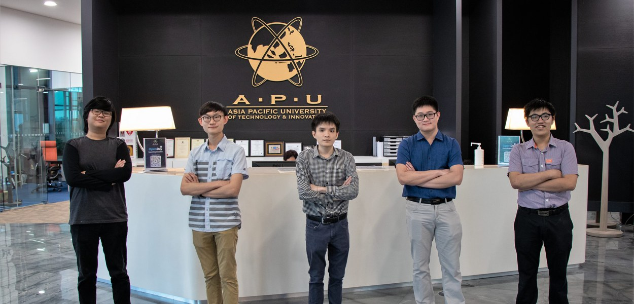 """Team """"AWSAPU"""" comprised students from different disciplines of the School of Computing & Technology at Asia Pacific University (APU) emerge National Champion and the Best Innovation Award winner of the Build On, Malaysia 2020"""