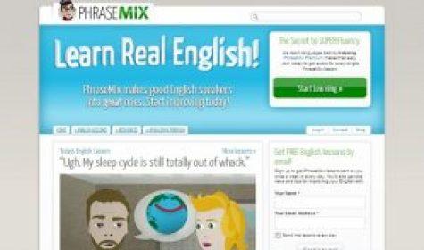 Phrasemix best free English learning websites