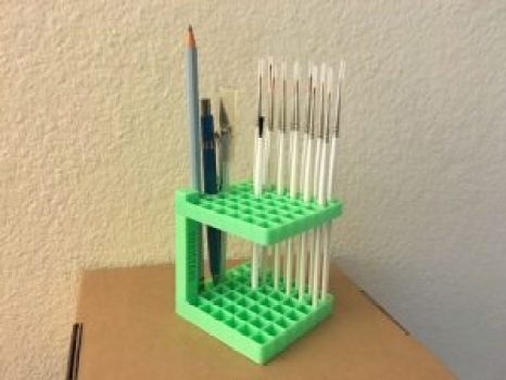 brush stand 3d printed
