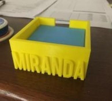 post-it box 3d printed