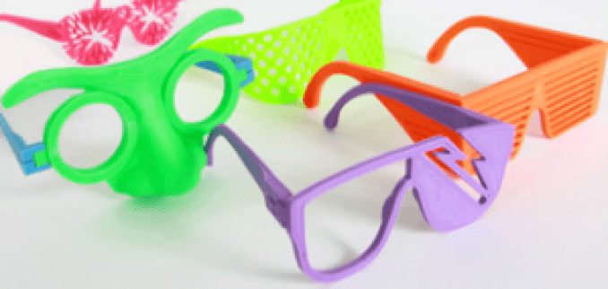 party eye glasses 3d printed
