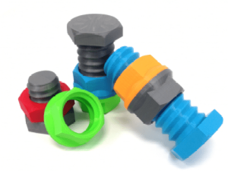 3d printed nuts and bolts