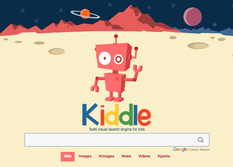 https://www.kiddle.co/ safe search engine for young learner