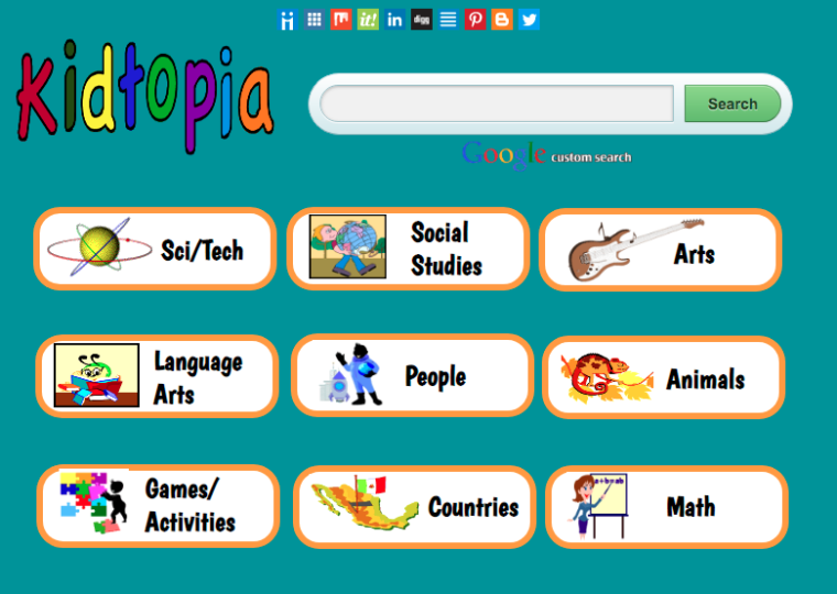Kids safe Search Engine Kidtopia