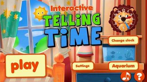 Interactive Telling time apps for kids to learn to tell time