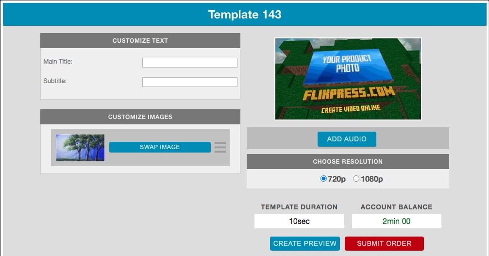 create free video bumper online