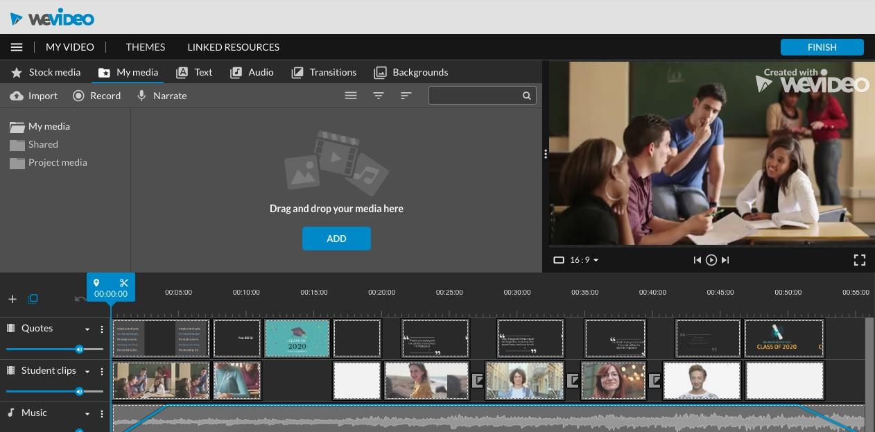 online free video maker tool for teachers wevideo