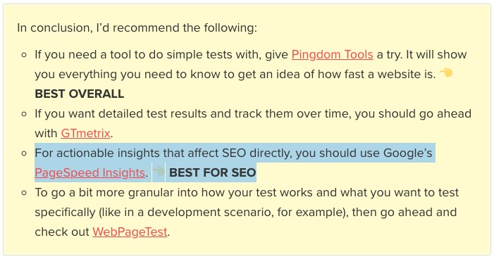 Use Google PageSpeed Insights to improve SEO