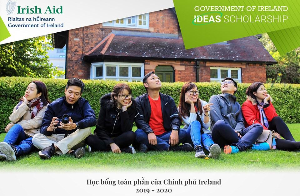 30 Suất Học Bổng Toàn Phần Thạc Sĩ Của Chính Phủ Ireland Dành Cho Sinh Viên Việt Nam 2019 - 2020