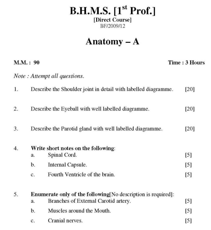 Anatomy And Physiology Essay Questions | Lettercard.co