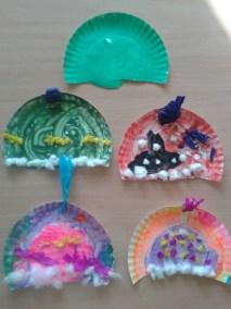 Czapeczki z talerzyków tekturowych Jesień (Prace plastyczne) Marlena Wrońska Prace plastyczne Wiosna (Prace plastyczne) Zima (Prace plastyczne)