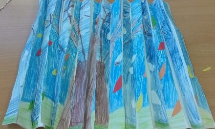 Jesienno – zimowe drzewa – mozaika
