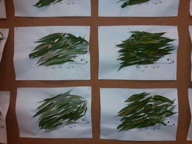 Jeże z liści Dzień Jeża Jesień (Prace plastyczne) Joanna Lewandowska Prace plastyczne Prace plastyczne (Dzień Jeża) Prace plastyczne (Dzień Zwierząt) Światowy Dzień Zwierząt
