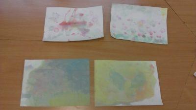 Łąka malowana bańkami Dzień Chemika Izabela Kowalska Kreatywnie z dzieckiem Lato Prace plastyczne Wiosna