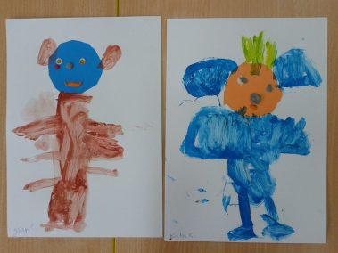 Misie farbkami malowane Dzień Niedźwiedzia Polarnego Dzień Pluszowego Misia Marlena Wrońska Prace plastyczne Prace plastyczne (Dzień misia) Prace plastyczne (Dzień Niedźwiedzia Polarnego) Zwierzęta (Prace plastyczne)